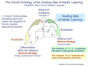 The Unicist Ontology of the Guiding Idea of Adults' Learning